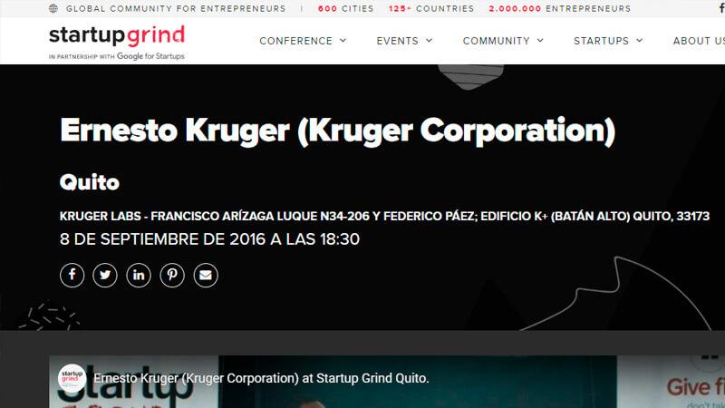 StartUp Grind Host Ernesto Kruger
