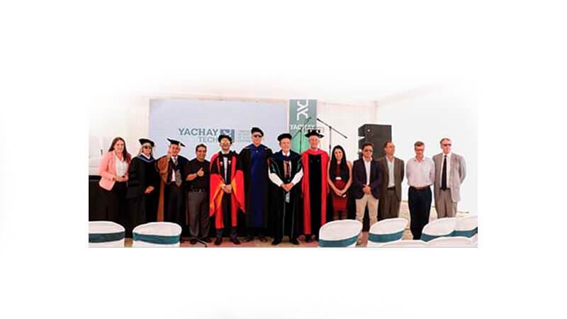 Ernesto Kruger presente en la inauguración de YachayTech