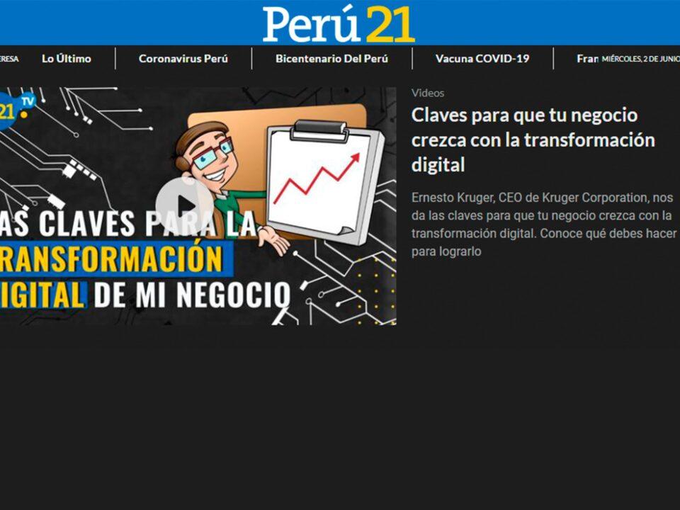Perú21 – Claves para que tu negocio crezca con la transformación digital